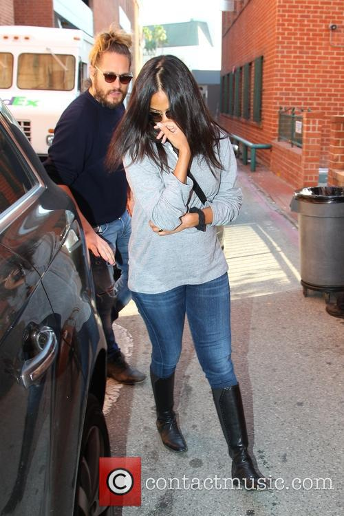 Zoe Saldana and family on Bedford in Beverly...