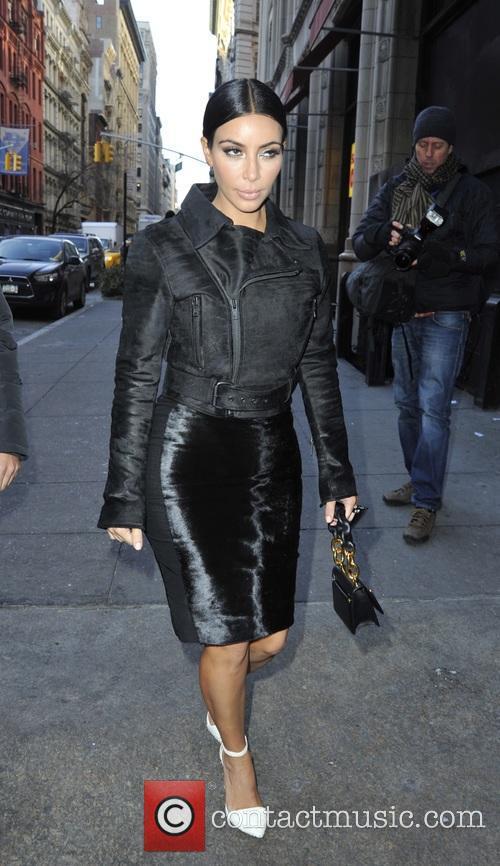 Kim Kardashian visits ABC Kitchen in New York...