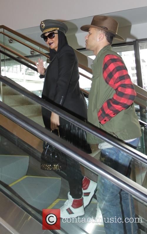 Amber Rose departs from Los Angeles International Airport...