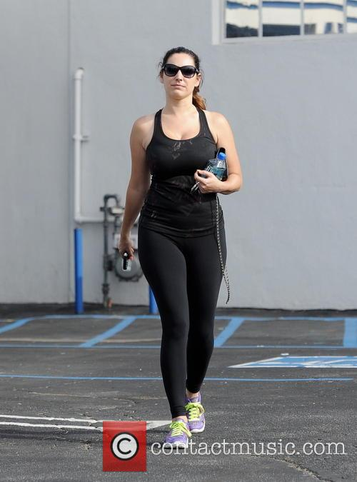 Kelly Brook spotted leaving the gym after a...
