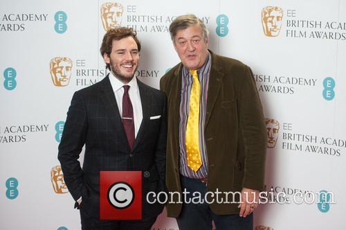 Stephen Fry and Sam Claflin 8