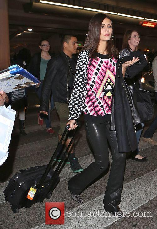 Victoria Justice arrives at LAX airport