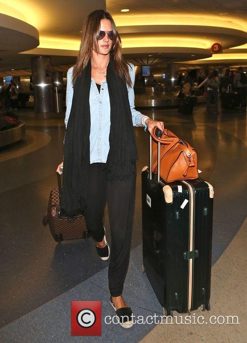 Alessandra Ambrosio arrives at Los Angeles International (LAX)...