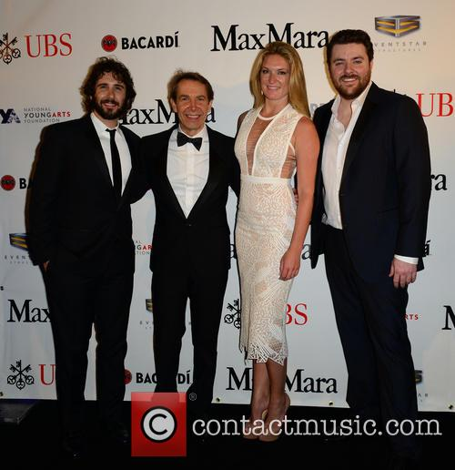 Josh Groban, Jeff Koons, Sarah Arison and Chris Young