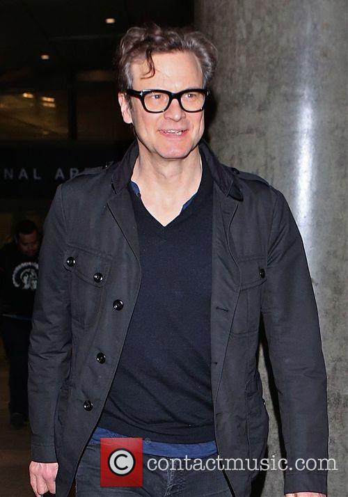Colin Firth arrives in LAX airport