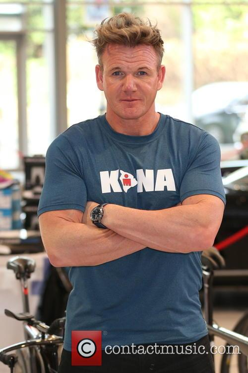 Gordon Ramsay at Joe Macari Performance Car showroom