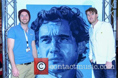 John Macdonald (huddersfield Town F.c), Ian Berry (artist) and Denimu Senna Portrait 1