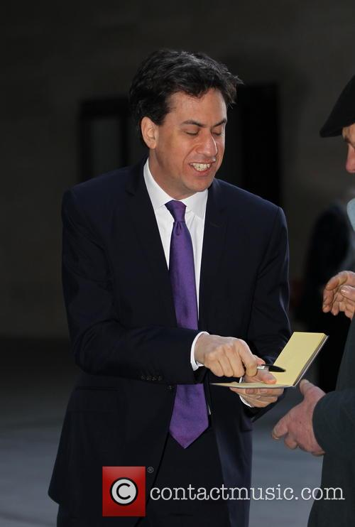 Ed Milliband arriving at The BBC