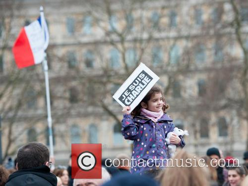 Thousands attend a solidarity Je Suis Charlie rally...