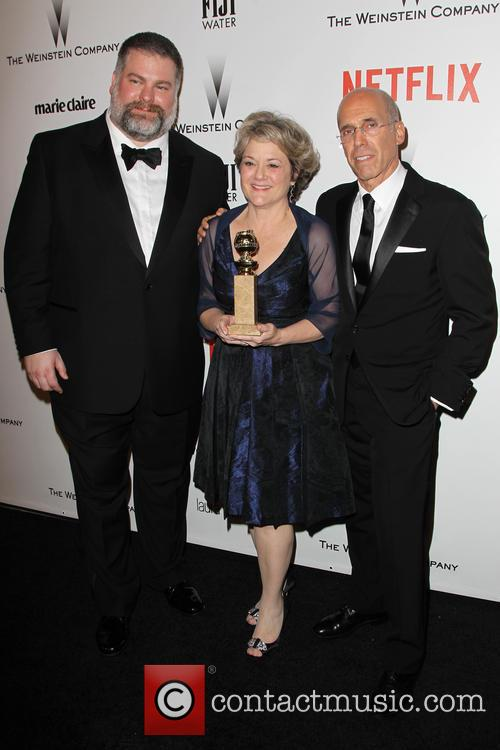 Dean Deblois, Bonnie Arnolda and Jeffrey Katzenberg 5
