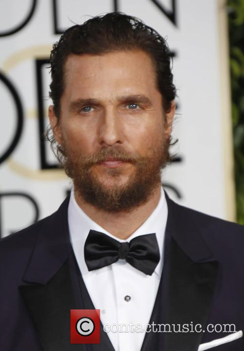 Matthew McConaughey at the Golden Globes