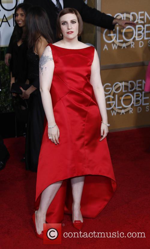 Lena Dunham at 2015 Golden Globes