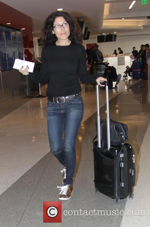 Lisa Edelstein departs from Los Angeles International Airport
