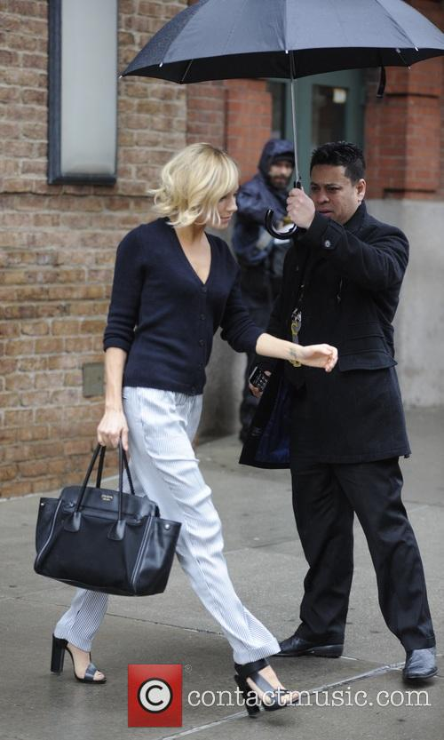 Sienna Miller leaving her hotel in New York