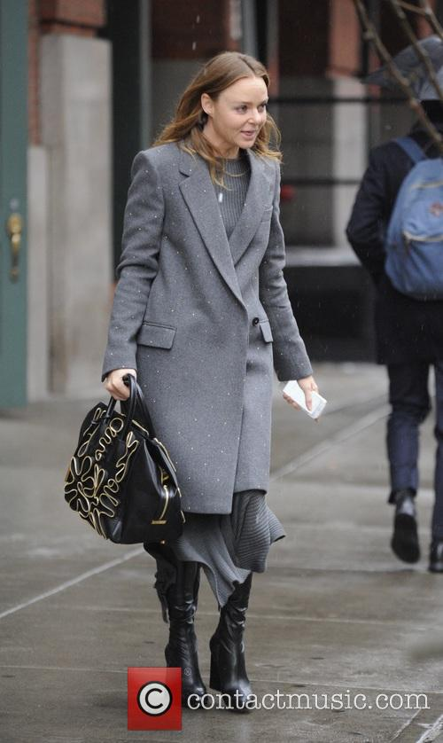 Stella McCartney leaving her hotel in New York