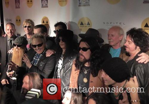 Matt Sorum, Duff Mckagan, Slash, Billy Gibbons and Butch Trucks 3