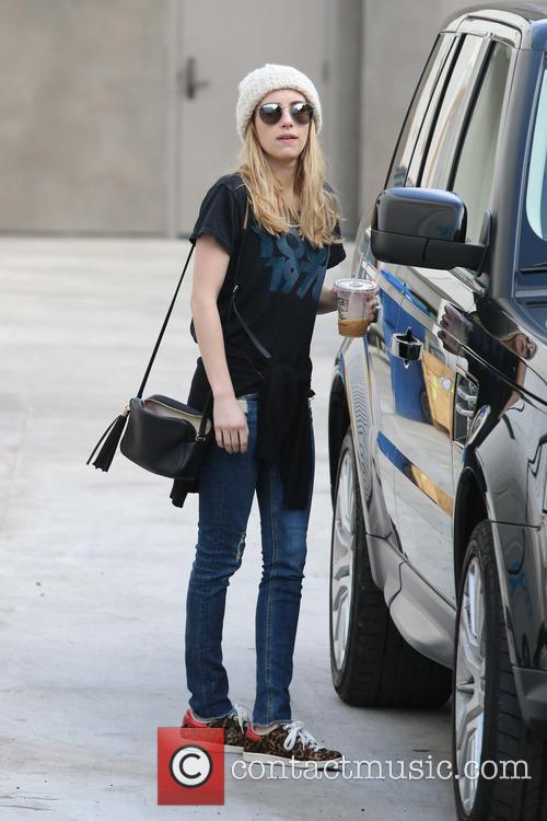 Emma Roberts grabs a coffee