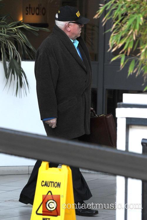Ken Morley leaves the ITV studios