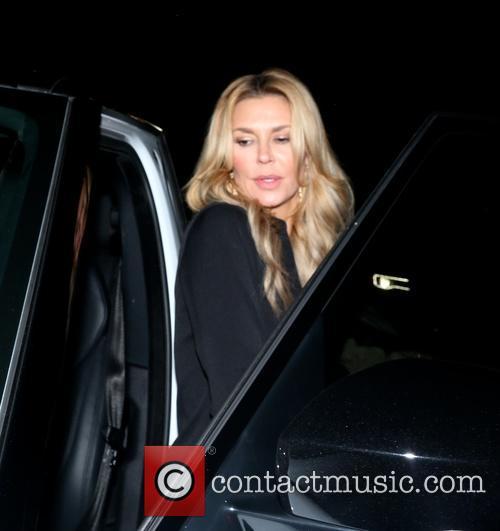 Brandi Glanville leaving Staple Center