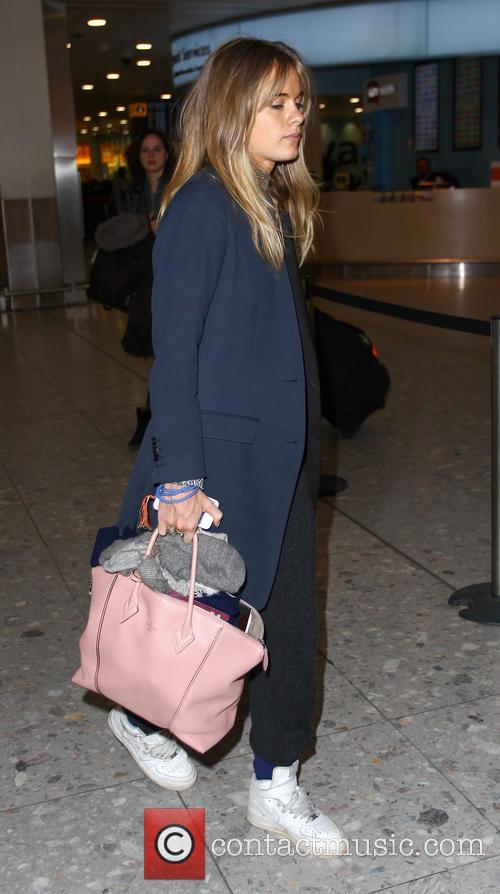 Cressida Bonas arrives at Heathrow airport