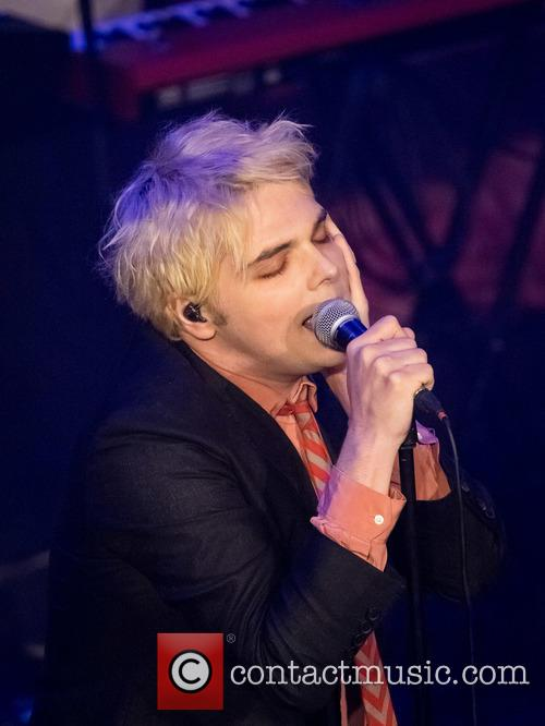 Gerard Way performing live on stage in Lisbon