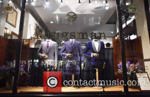 The 'Kingsman: The Secret Service' cast leaving their...