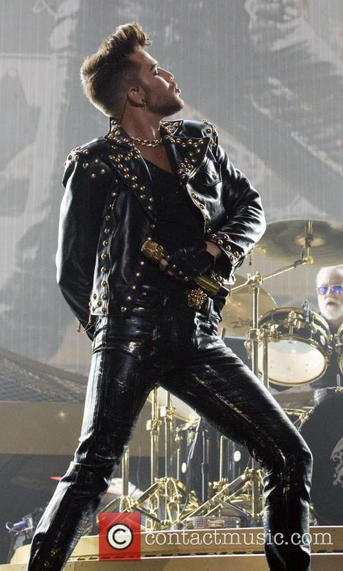 Adam Lambert on stage at the Barclaycard Arena as part of Queen's 2015 European tour.
