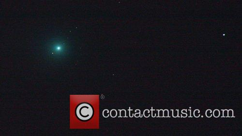Comet Lovejoy is seen over the Bulgarian town...