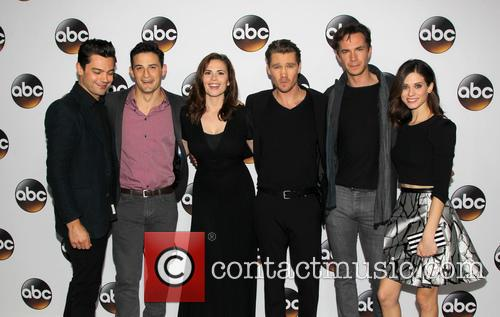 Dominic Cooper, Enver Gjokaj, Hayley Atwell, Chad Michael Murray, James D'arcy and Lyndsy Fonseca 5