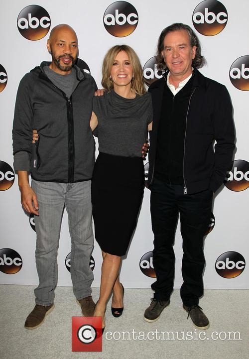 John Ridley, Felicity Huffman and Timothy Hutton