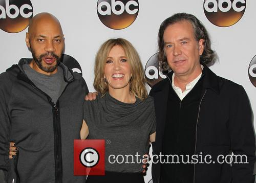 John Ridley, Felicity Huffman and Timothy Hutton 1