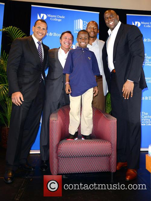 "Alex Rodriguez, Mike Fernández, Carson Sylvestre, Ray Allen and Earvin ""magic"" Johnson 7"