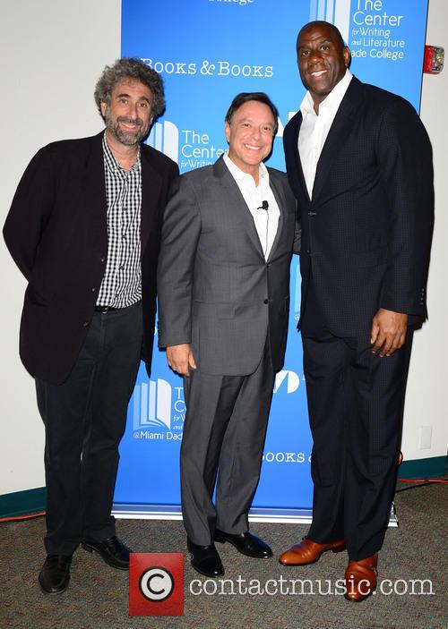 "Mitchell Kaplan, Mike Fernández and Earvin ""magic"" Johnson 2"