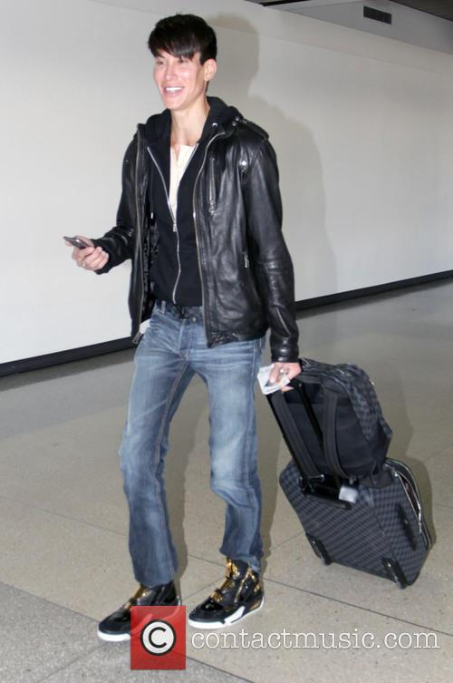 Justin Jedlica departs from Los Angeles International Airport