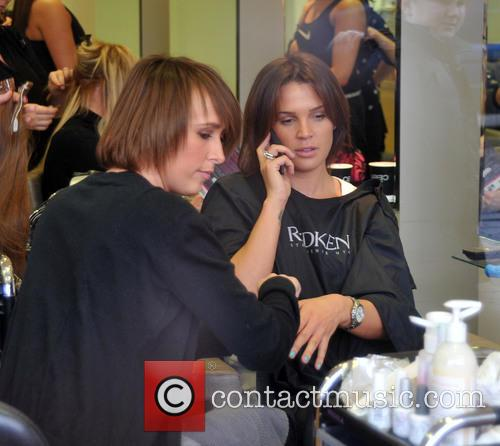 Danielle Lloyd visits The Ceira Lambert Hair Salon...