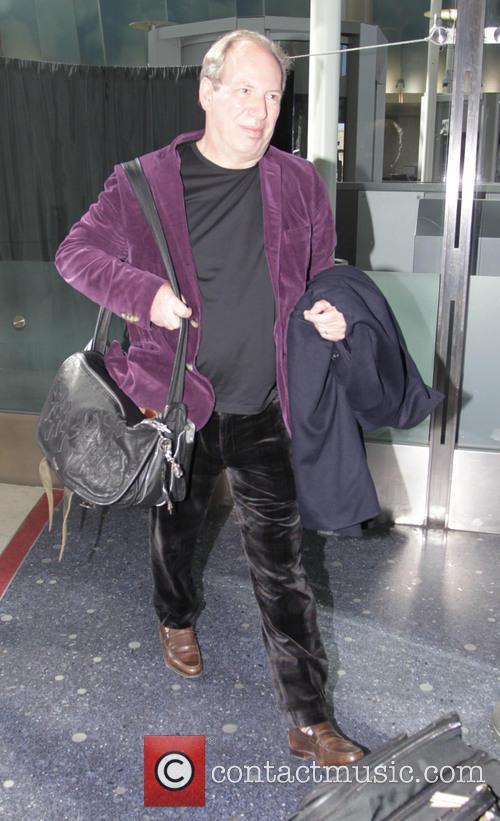 Hans Zimmer arrives at Los Angeles International Airport