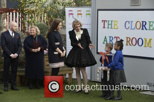 Catherine Duchess Of Cambridge and Grayson Perry