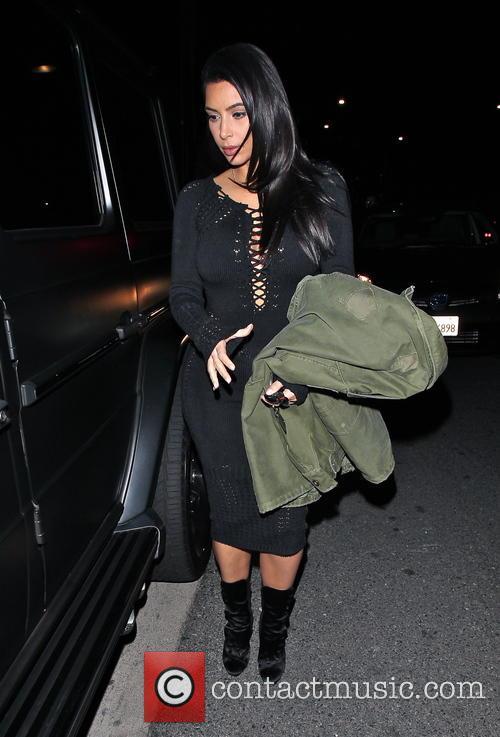 Kim Kardashian and Kanye West leave Giorgio Baldi...