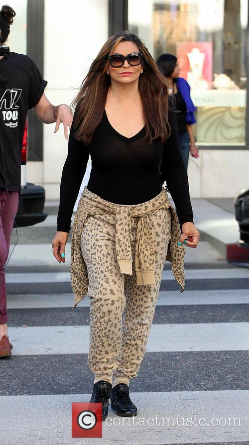Beyonce's mother, Tina Knowles, spotted out shopping in...