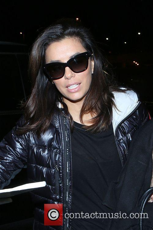 Eva Longoria departs from Los Angeles At LAX