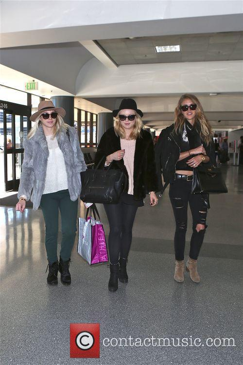 Francesca Eastwood and friends depart  from LAX