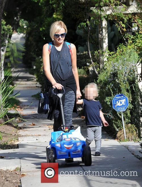 Malin Åkerman out with her son in Los...