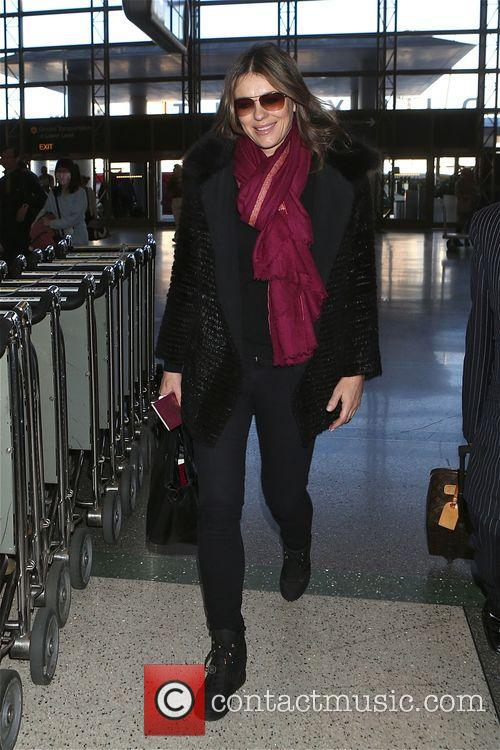 Elizabeth Hurley departs from Los Angeles International Airport...