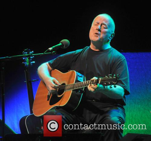 Singer Christy Moore performing onstage