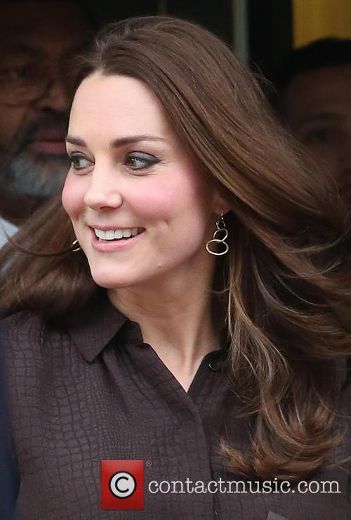 The Duchess of Cambridge, Kate Middleton, visits the...
