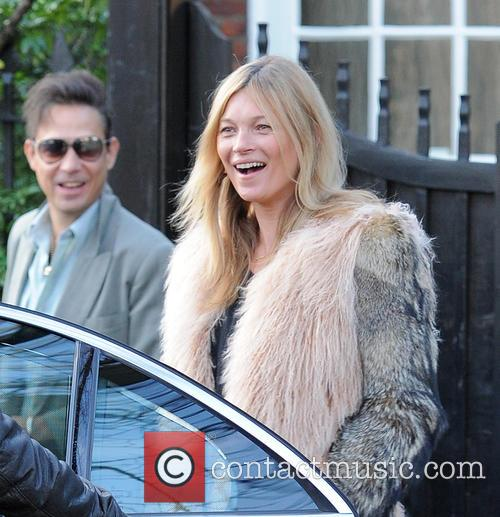Kate Moss leaves her home on her 41st...