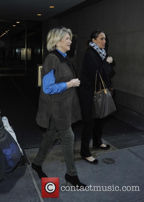 Martha Stewart leaving the NBC studios