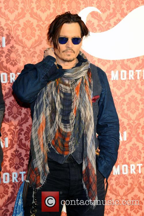 Johnny Depp promotes 'Mortdecai'