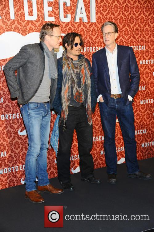 Paul Bettany, Johnny Depp and David Koepp 2