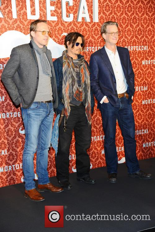 Paul Bettany, Johnny Depp and David Koepp 3